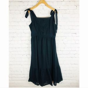 Abercrombie and Fitch black flowy dress small
